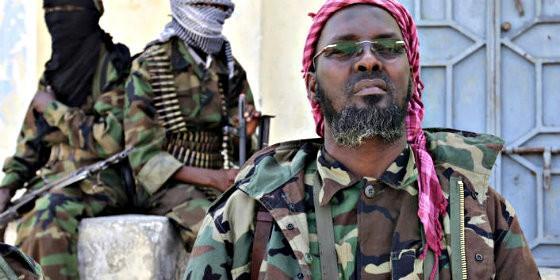Un jefe terrorista de la islámica Al-Shabaab.