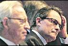 Artur Mas y el presidente de la Cámara de Barcelona, Miquel Valls.