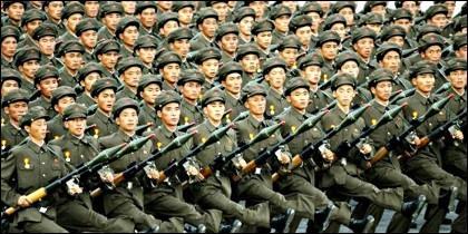 Militares del Ejército chino.