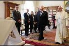 El Papa, con el presidente de Israel