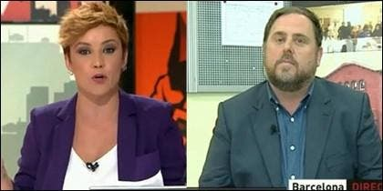 Cristina Pardo y Oriol Junqueras.