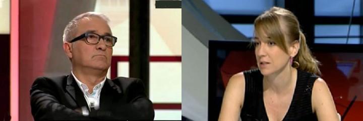 Javier Sardá y Tania Sánchez.