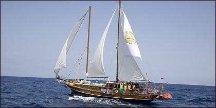 Uno de los veleros de contrabandistas.