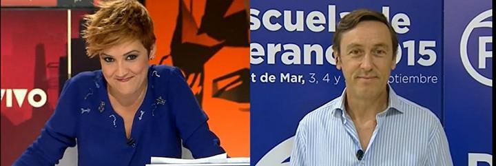 Cristina Pardo y Rafael Hernando.