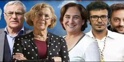 Alcaldes populistas, entre ellos Carmena, Colau y Kichi.