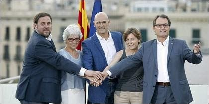 Junqueras, Casals, Romeva, Forcadell y Mas.
