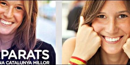 Patricia, la musa del 27S contratada por la Generalitat de Artur Mas, quiere que Cataluña siga en España.