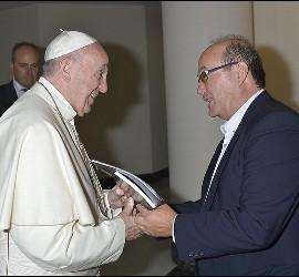 El Papa Francisco, con José Manuel Vidal