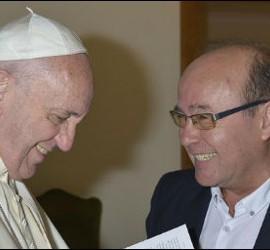 José Manuel Vidal, con el Papa Francisco