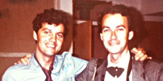 Alfonso Rojo con el francés Etienne Montes, compañero fotógrafo entonces y ahora viticultor de élite.