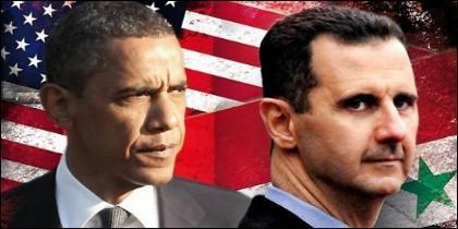 Obama y Bashar al Asad