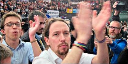 Iñigo Errejón y Pablo Iglesdias en un mitin de Podemos.