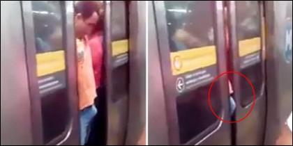 El pervertido en el metro