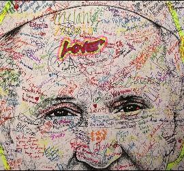 Mural love en USA para el Papa