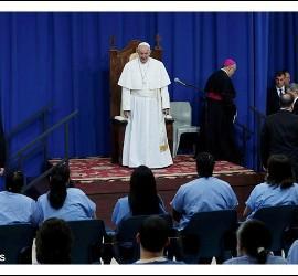Papa, con presos de Filadelfia