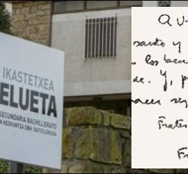 La carta del Papa ante los abusos en el Gaztelueta
