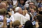 El Papa Francisco, durante la audiencia al Banco de Alimentos