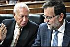 José Manuel García-Margallo y Mariano Rajoy.