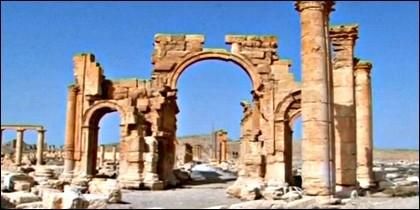 El Arco del Triunfo de Palmira.