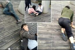 Una de las imágenes del cruel castigo en Chinas