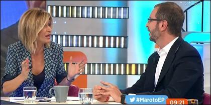 Susanna Griso y Javier Maroto.