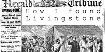 El encuentro entre Stanley y Livingstone fue portada y gran exclusiva del New York Herald.