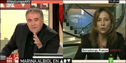 Antonio García Ferreras y Marina Albiol.