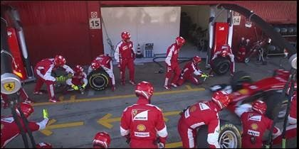 Box de la Fórmula 1.