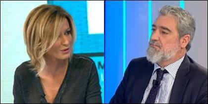 Susanna Griso y Miguel Ángel Rodríguez.