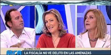 Daniel Portero, Isabel Durán y Carmen Tomás.