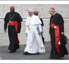 El Papa, camino del Sínodo