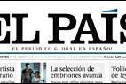 Cabecera y logo de 'El País'.