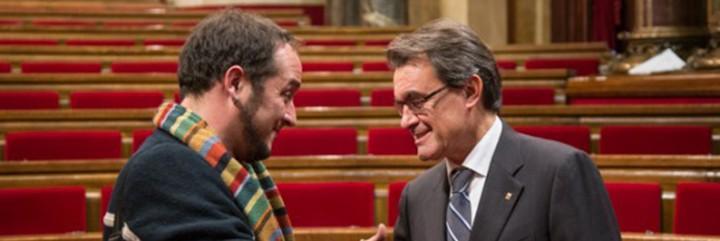 David Fernández, el sandalio batasuno de las CUP y Artur Mas