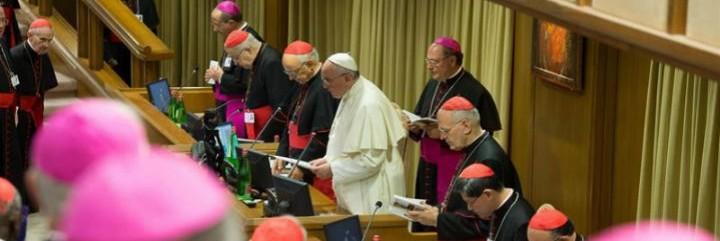 El Papa ora con el Sínodo