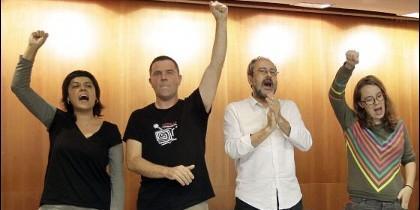 Gabriel, Busqueta, Baños y Reguant, de la CUP.