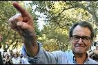 Oriol Junqueras (ERC) con el ahora 'descorbatado' Artur Mas (CDC).