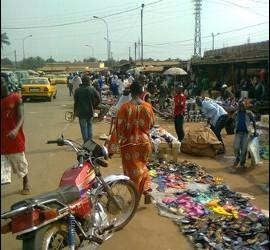 KIlómetro cinco en Bangui