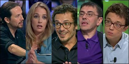 Pablo Iglesias, Tania Sánchez, Kichi, Juan Carlos Monedero e Íñigo Errejón.