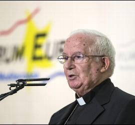 El cardenal Cañizares, ayer