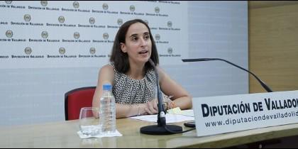 Pilar Vicente en la Sede de la Diputación Provincial de Valladolid.