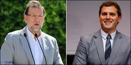 Albert Rivera y Mariano Rajoy.