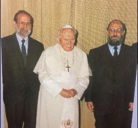 Figari, con Juan Pablo II
