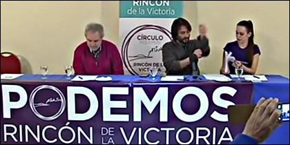 Los dirigentes de Podemos en Rincón de la Victoria.
