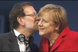 Angela Merkel y Mariano Rajoy.