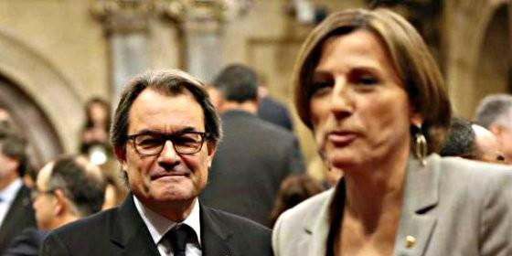Artur Mas y Carme Forcadell.