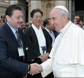 El líder del Kaiciid, con el Papa