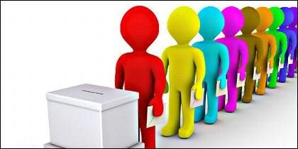 Elecciones, voto, partidos políticos, campaña electoral, propaganda y poder.