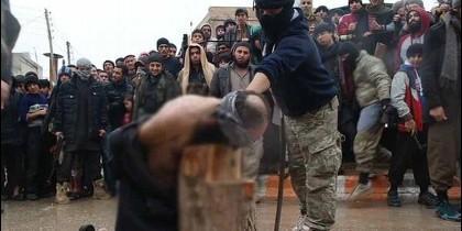 Ejecución islamista en Raqqa.