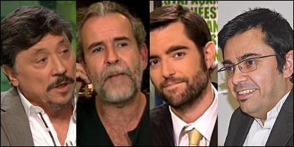 Carlos Bardem, Willy Toledo, Dani Mateo y Gerardo Pisarello.