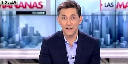 Javier Ruiz, con el micro abierto en 'Las mañanas de Cuatro'.